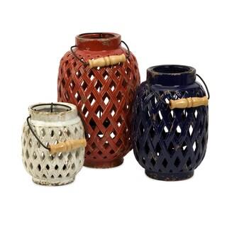 Bailey Lattice Lanterns (Set of 3)