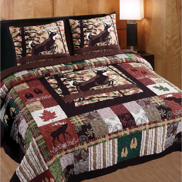 Shop Greenland Home Fashions Whitetail Lodge 3-piece Quilt