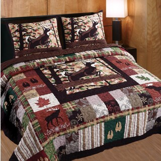 Greenland Home Fashions Whitetail Lodge 3-piece Quilt Set