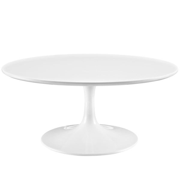 Progress White 36 Inch Round Coffee Table   Free Shipping Today    Overstock.com   17292522