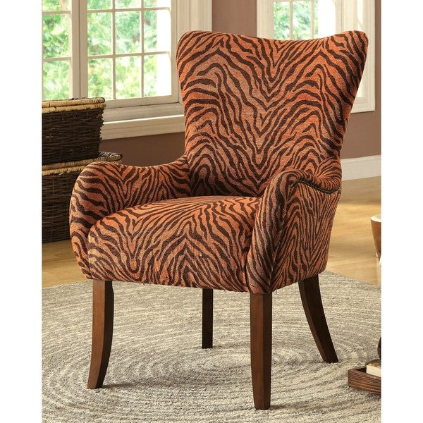 Shop Exotic Tiger Print Accent Chair Free Shipping Today