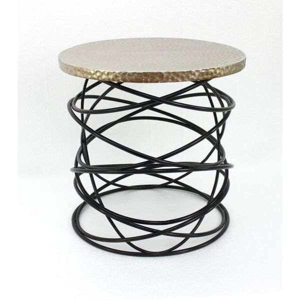 Shop Teton Home 1 Af 079 Open Wire End Table   Free Shipping Today    Overstock   10163981