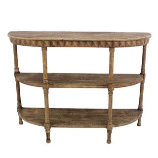 Teton Home Af-004 Half-moon Light Brown Wood Console Table