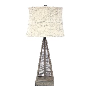 Teton Home 2 Tl-023 Metal Wire Pyramid Table Lamp