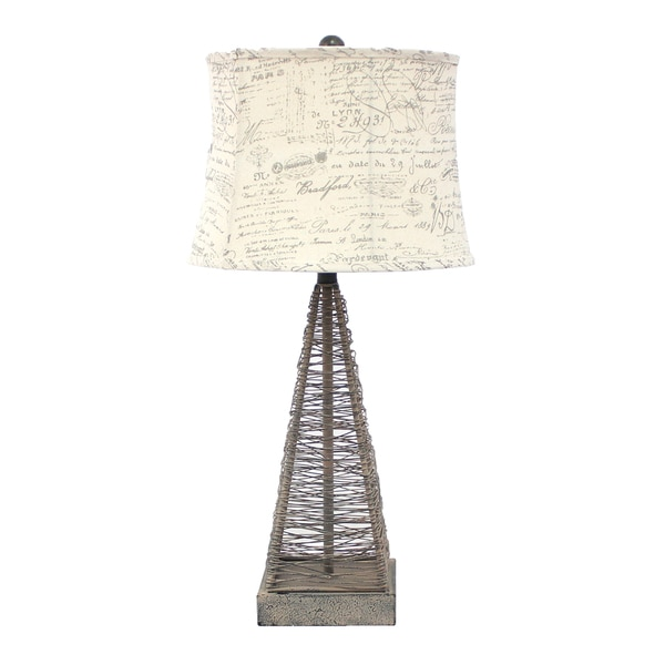 Shop teton home 2 tl 023 metal wire pyramid table lamp on sale teton home 2 tl 023 metal wire pyramid table lamp keyboard keysfo Image collections