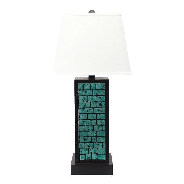 Teton Home 2 Tl-017 Turqouise Brick Table Lamp