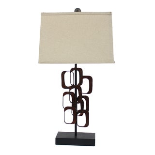 Teton Home 2 Tl-014 Retro-inspired Open-cut Metal Table Lamp