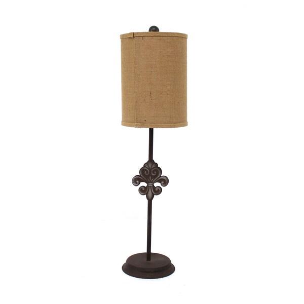 Teton Home 2 Tl-013 Fleur-dis-lis Metal Table Lamp