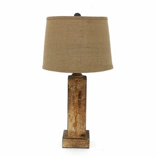 Teton Home 2 Tl-007 Natural Wood Block Table Lamp
