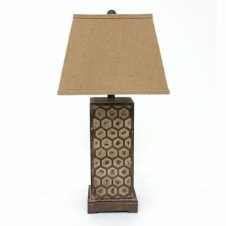 Teton Home 2 Tl-005 Hexegon-cut Table Lamp