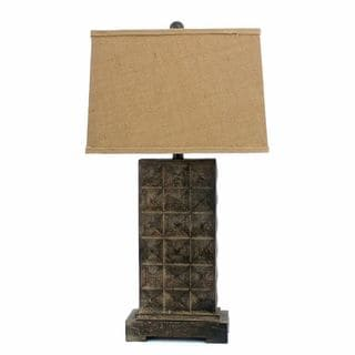 Teton Home 2 Tl-002 Cross-cut Block Table Lamp