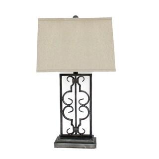 Teton Home 2 Tl-001 Metal Filigree Table Lamp