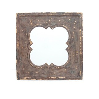 Teton Home Antique Finished Metal Wall Mirror