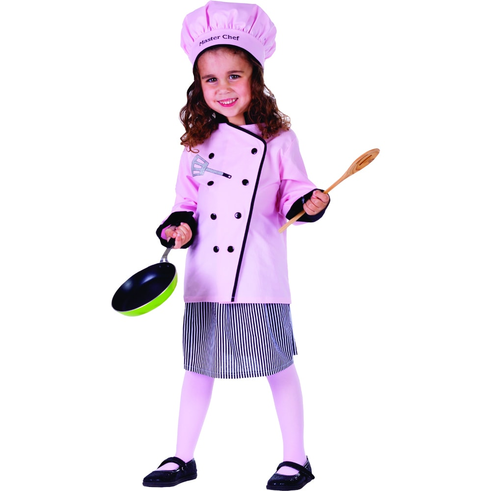 Dress Up America Master Girl Chef Costume (Small 4-6), Si...