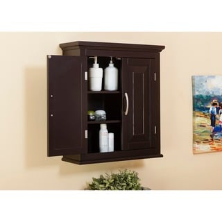 Beautiful Genevieve Double Door Wall Cabinet By Essential Home Furnishings