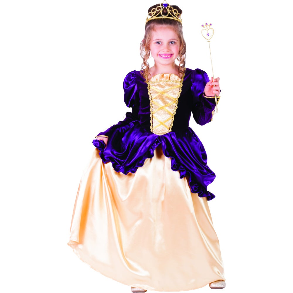 Dress Up America Purple Belle Ball Gown Costume (Medium 8...