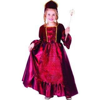 Girl's Burgundy Belle Ball Gown Costume