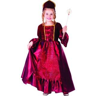 Girl's Burgundy Belle Ball Gown Costume