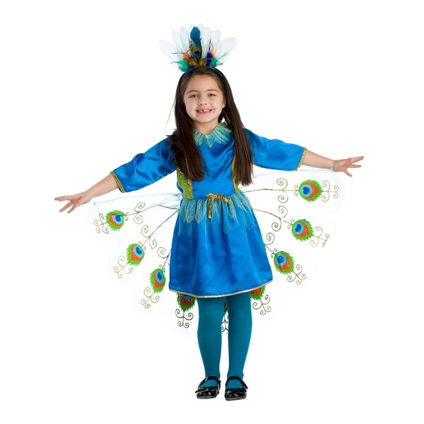 Girl 39 s proud peacock costumes free shipping today for Overstock free returns