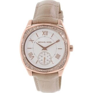Michael Kors Women's Bryn MK2388 Beige Leather Quartz Watch