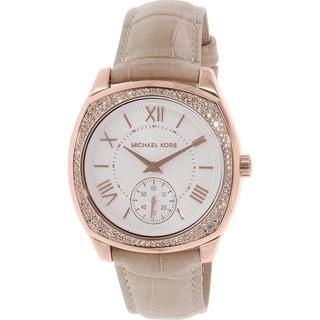 Michael Kors Women's Bryn MK2388 Beige Leather Quartz Watch