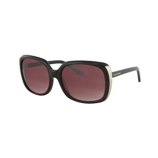 Vernier Women's Purple Rectangle Metal Endpiece Sunglasses