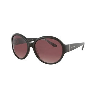 Vernier Women's Purple Retro Round Metal Bar Accent Sunglasses
