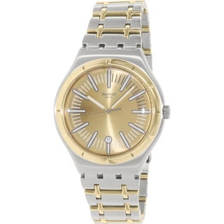 Swatch Men's Irony YWS410G Gold Stainless-Steel Swiss Quartz Watch
