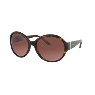 Vernier Women's Brown Retro Round Metal Bar Accent Sunglasses