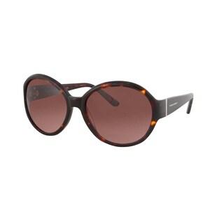 Vernier Women's Brown Retro Round Metal Bar Accent Sunglasses