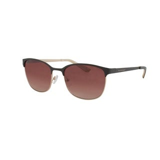 Vernier Women's Purple Double Plated Metal Club Master Sunglasses