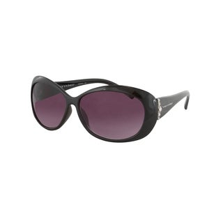 Vernier Women's Black Oval 'Sunreaders' Reading 2.0x Sunglasses