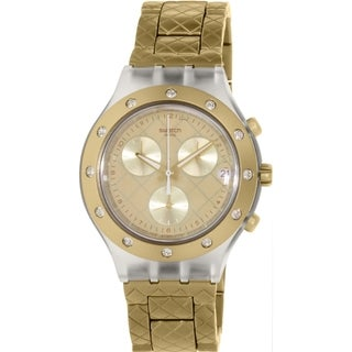 Swatch Women's Irony SVCK4082AG Gold Aluminum Swiss Quartz Watch