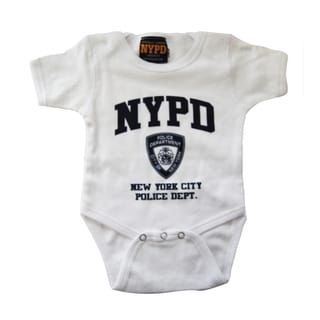 NYPD White/Navy Infant Bodysuit
