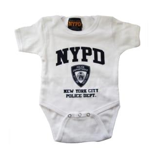 NYPD White/Navy Infant Bodysuit