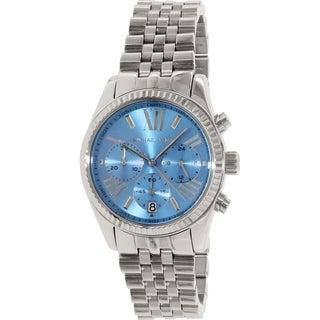 Michael Kors Men's Lexington MK5887 Blue Stainless-Steel Quartz Watch