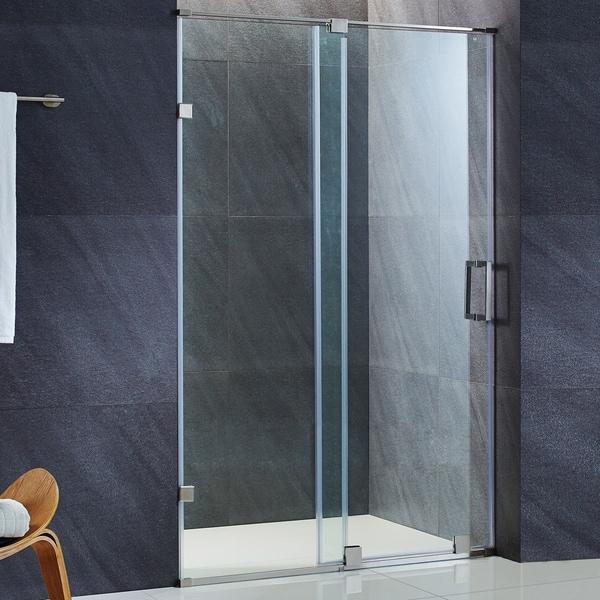 Frameless glass shower door installation - Vigo Ryland 60 Inch Frameless Shower Door With 3 8 Quot Clear Glass And