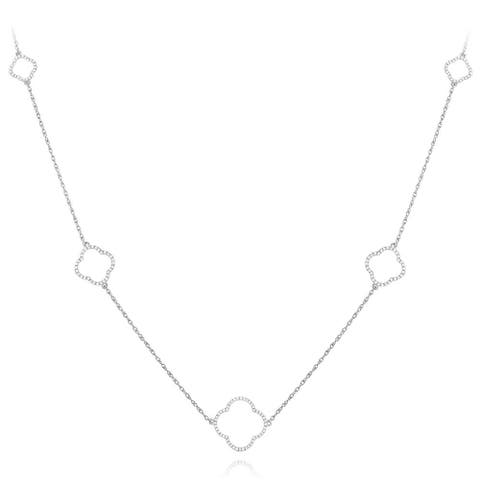 Luxurman 14k White Gold 1/3ct TDW Diamond Necklace