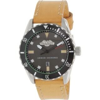 Armani Exchange Men's AX1707 Black Leather Quartz Watch