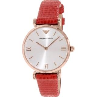 Emporio Armani Women's Retro AR1876 Red Leather Quartz Watch