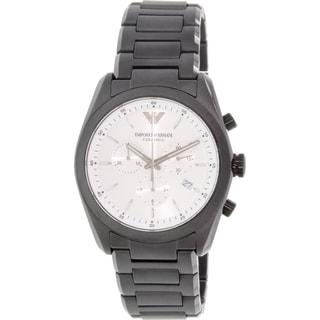 Emporio Armani Men's Ceramica AR1492 Black Stainless Steel Swiss Quartz Watch