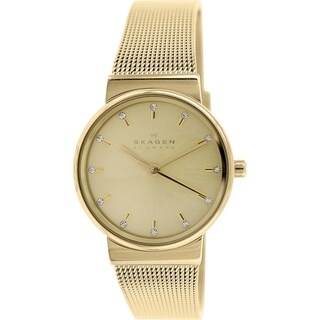 Skagen Women's Ancher SKW2196 Antique Goldtone Stainless Steel Quartz Watch