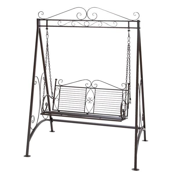 Shop Metal Garden Swing Overstock 10164327
