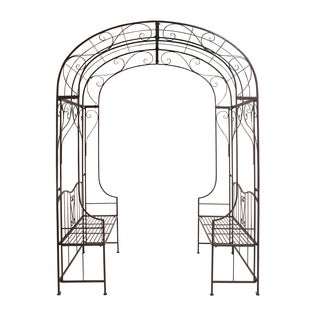 Metal Arch Decorative Bench