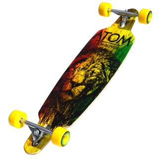 Atom 36-inch Rasta Lion Drop-through Longboard