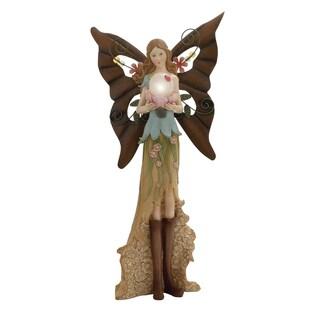 Polystone Metal Yard Fairy
