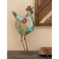 Metal Decorative Rooster - multi