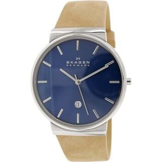 Skagen Men's Ancher SKW6103 Brown Leather Quartz Watch