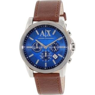 Armani Exchange Men's AX2501 Blue Leather Quartz Watch