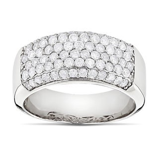 Luxurman 14k Gold 1 3/5ct TDW Diamond Wedding Band